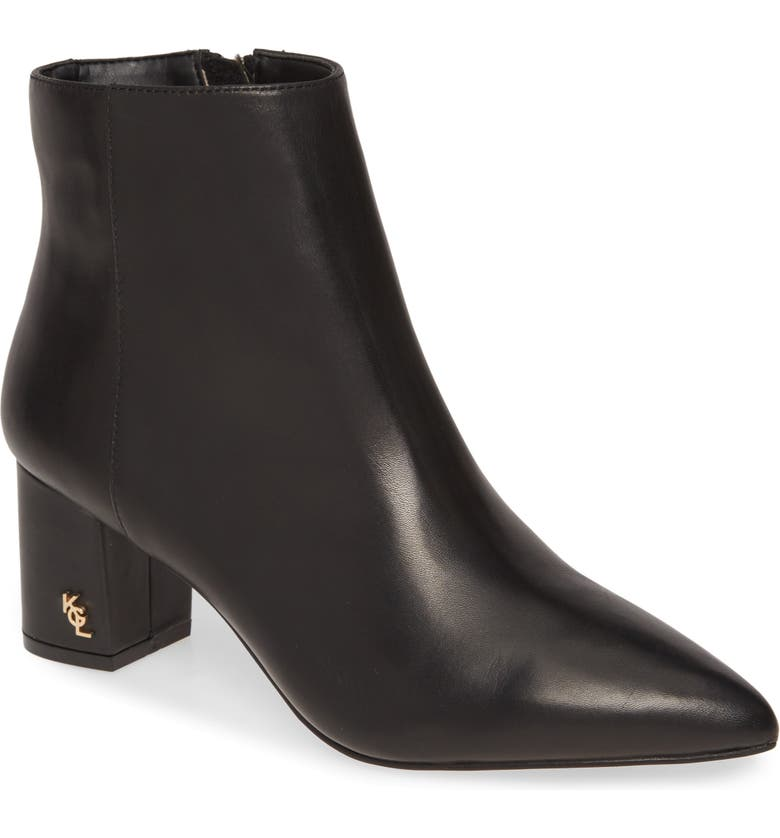 KURT GEIGER LONDON Burlington Ankle Bootie, Main, color, BLACK LEATHER
