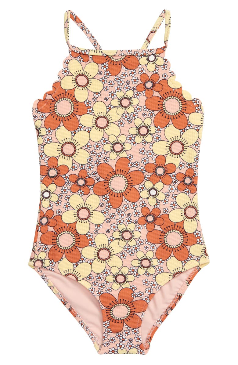 SEED HERITAGE Jan Scallop Swimsuit, Main, color, PINK MULTI