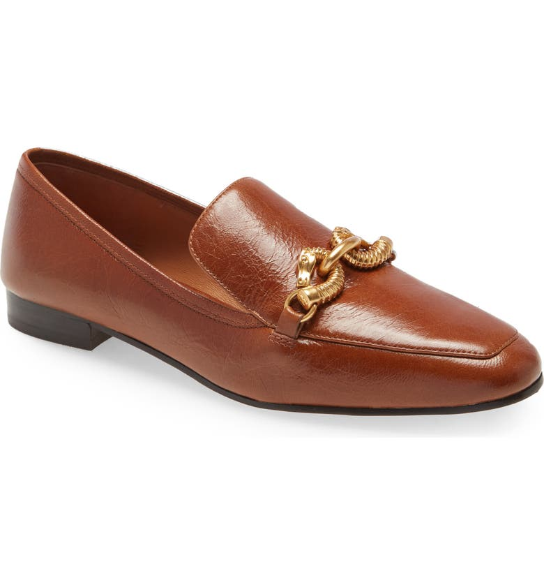 TORY BURCH Jessa Horse Hardware Loafer, Main, color, SYRUP