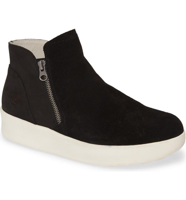 OTBT Astrid Sneaker, Main, color, BLACK LEATHER