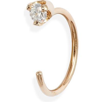 Zoe Chicco Single Diamond Open Hoop Earring