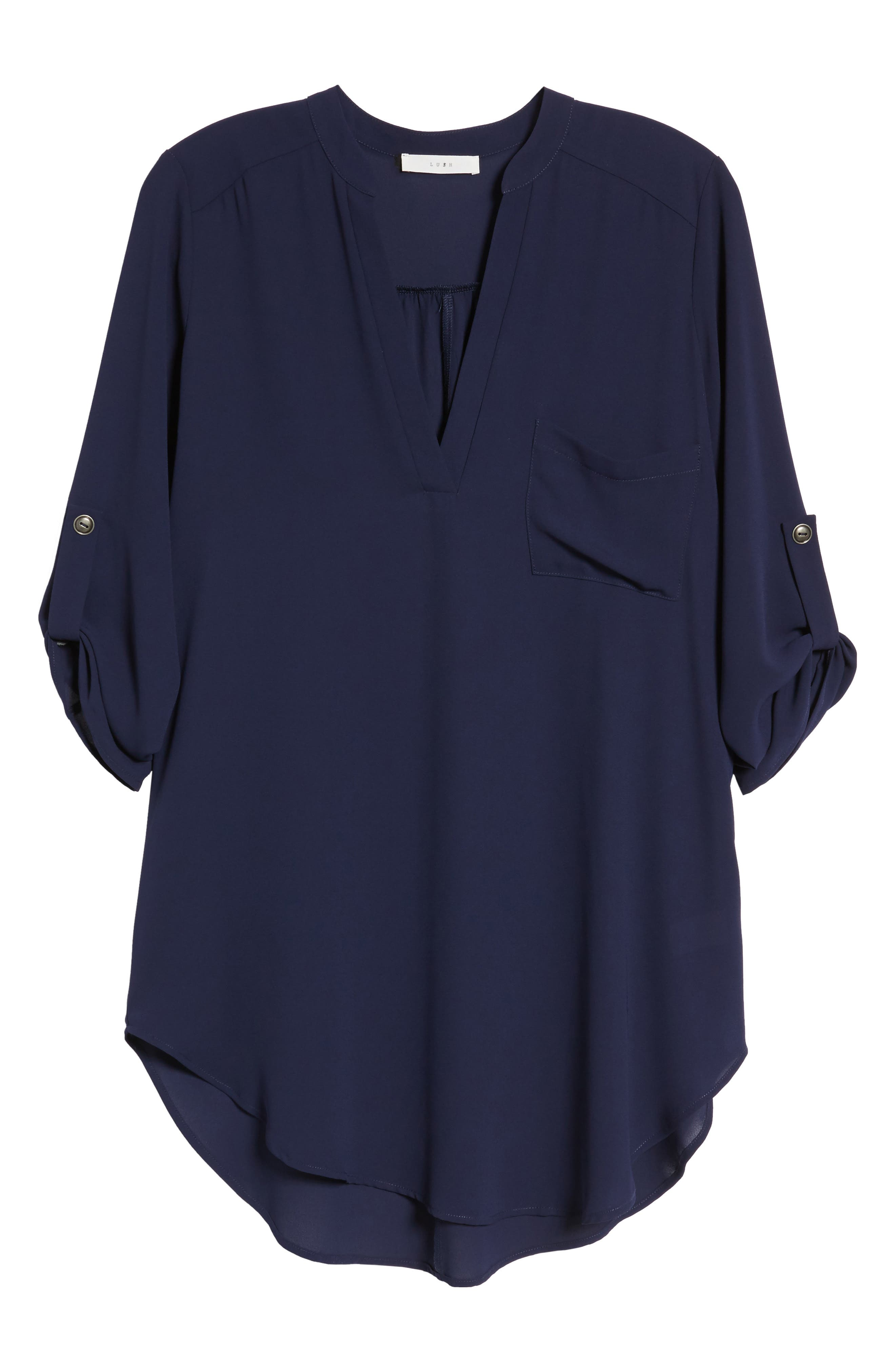 ,                             Perfect Roll Tab Sleeve Tunic,                             Alternate thumbnail 271, color,                             403