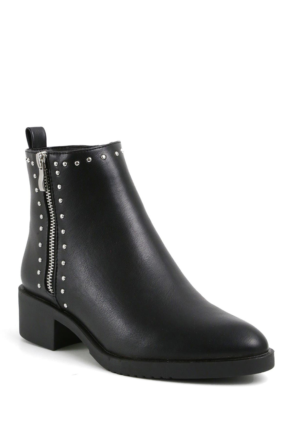 Image of Catherine Catherine Malandrino Naroon Pointed Toe Vegan Leather Bootie