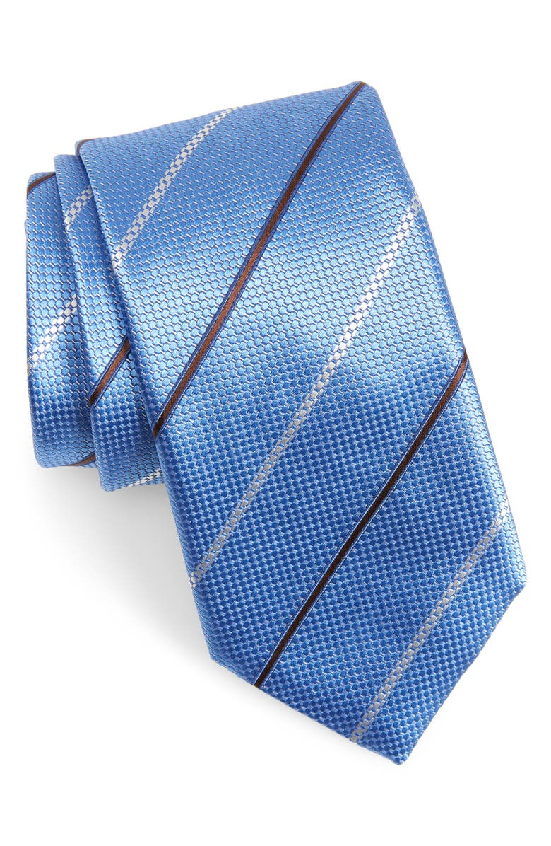 CANALI Stripe Silk X-Long Tie, Main, color, 450