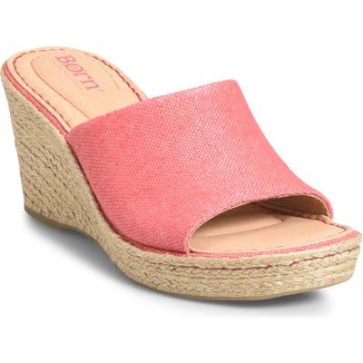 B?rn Missoula Wedge Sandal, Red