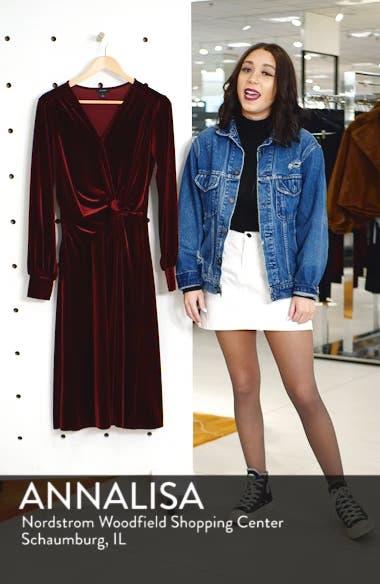 Velvet Faux Wrap Dress, sales video thumbnail
