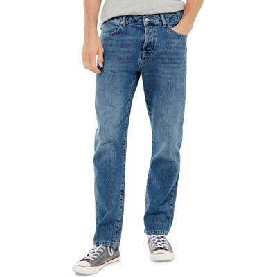 Topman Straight Leg Dad Jeans, Blue