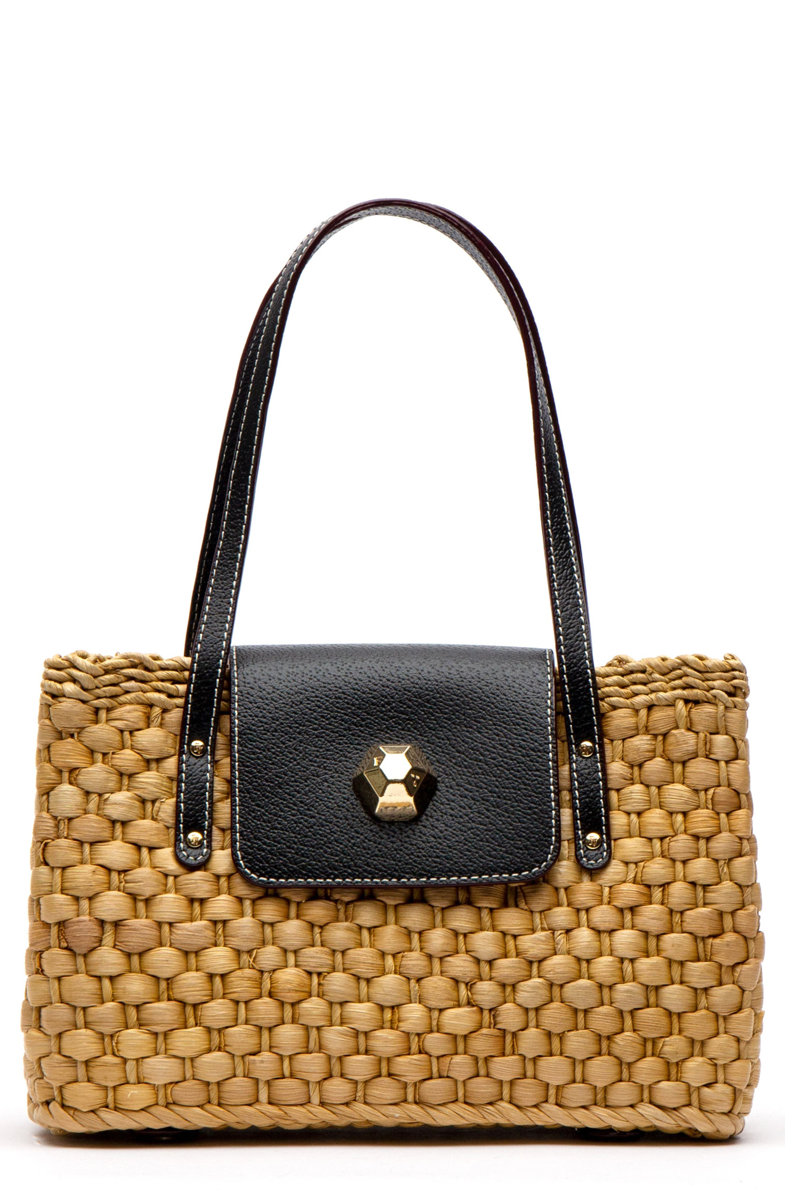 fc20e67a3bae9 Frances Valentine Woven Shoulder Bag - Black