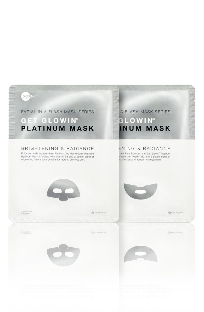 SKIN INC. Get Glowin' Platinum Mask, Main, color, NO COLOR