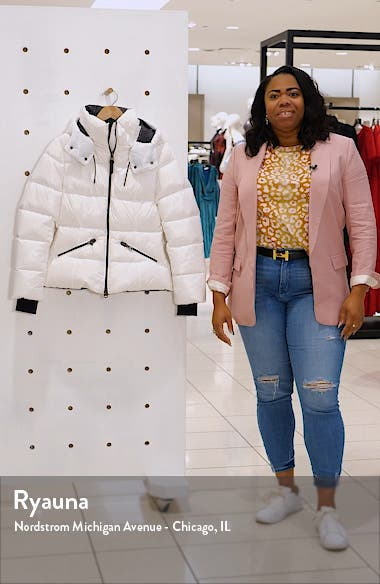 Lustrous Water Repellent Hooded Down Coat, sales video thumbnail
