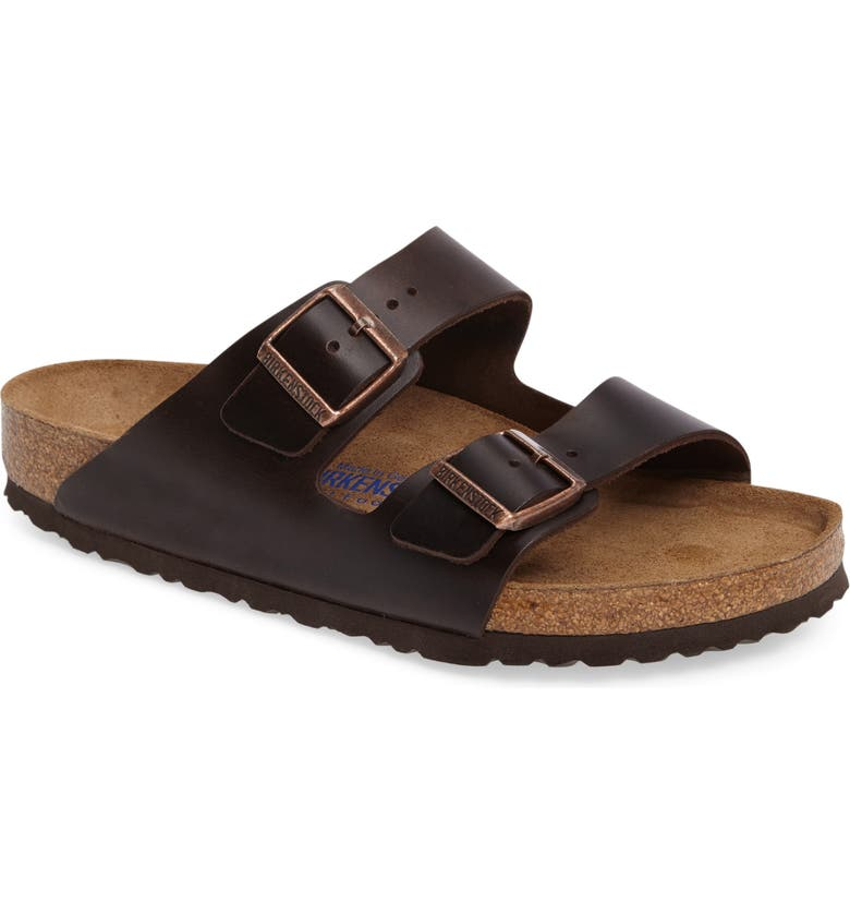 BIRKENSTOCK Arizona Soft Slide Sandal, Main, color, BROWN