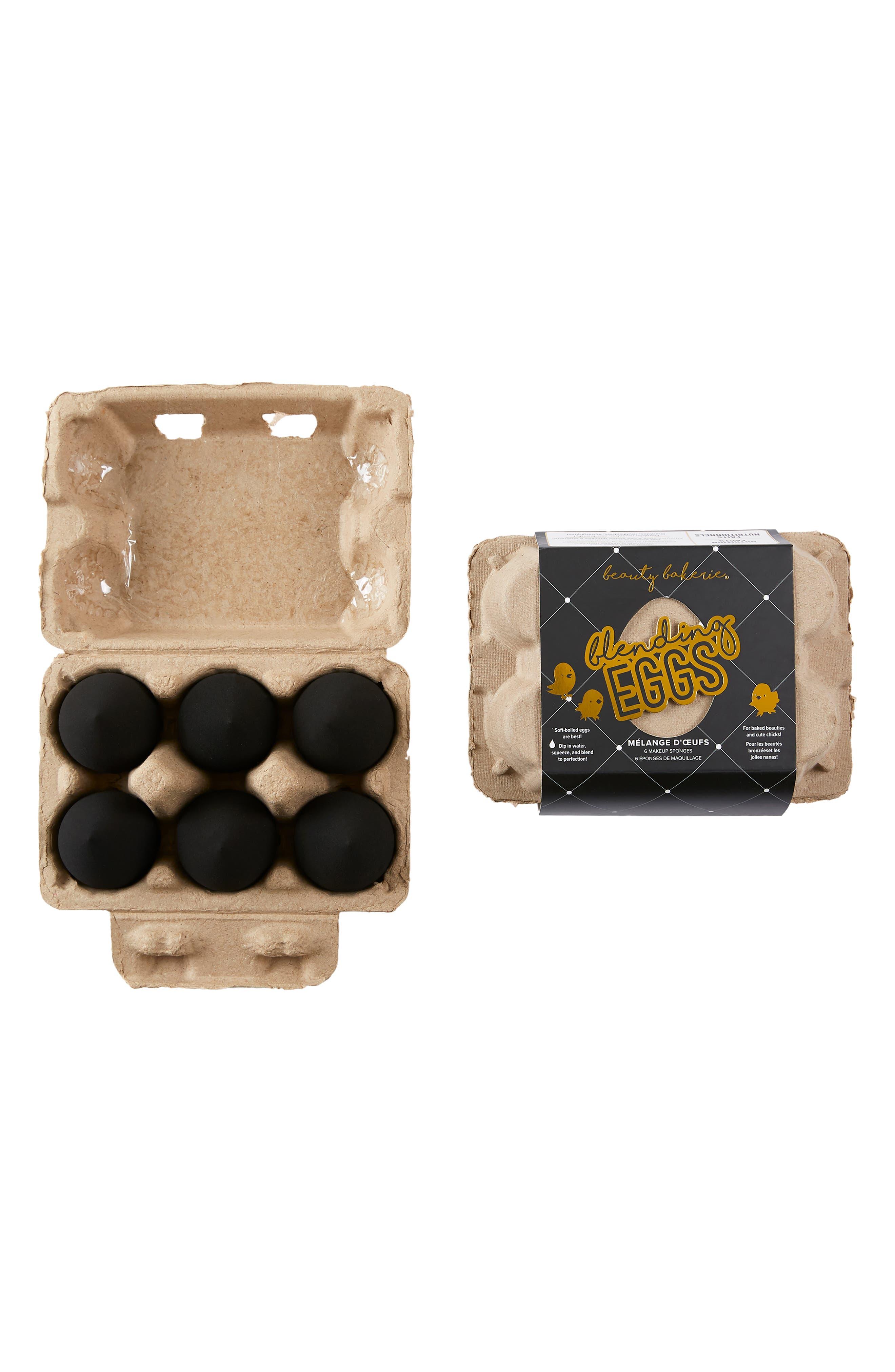 Black Blending Egg Makeup Sponge Set
