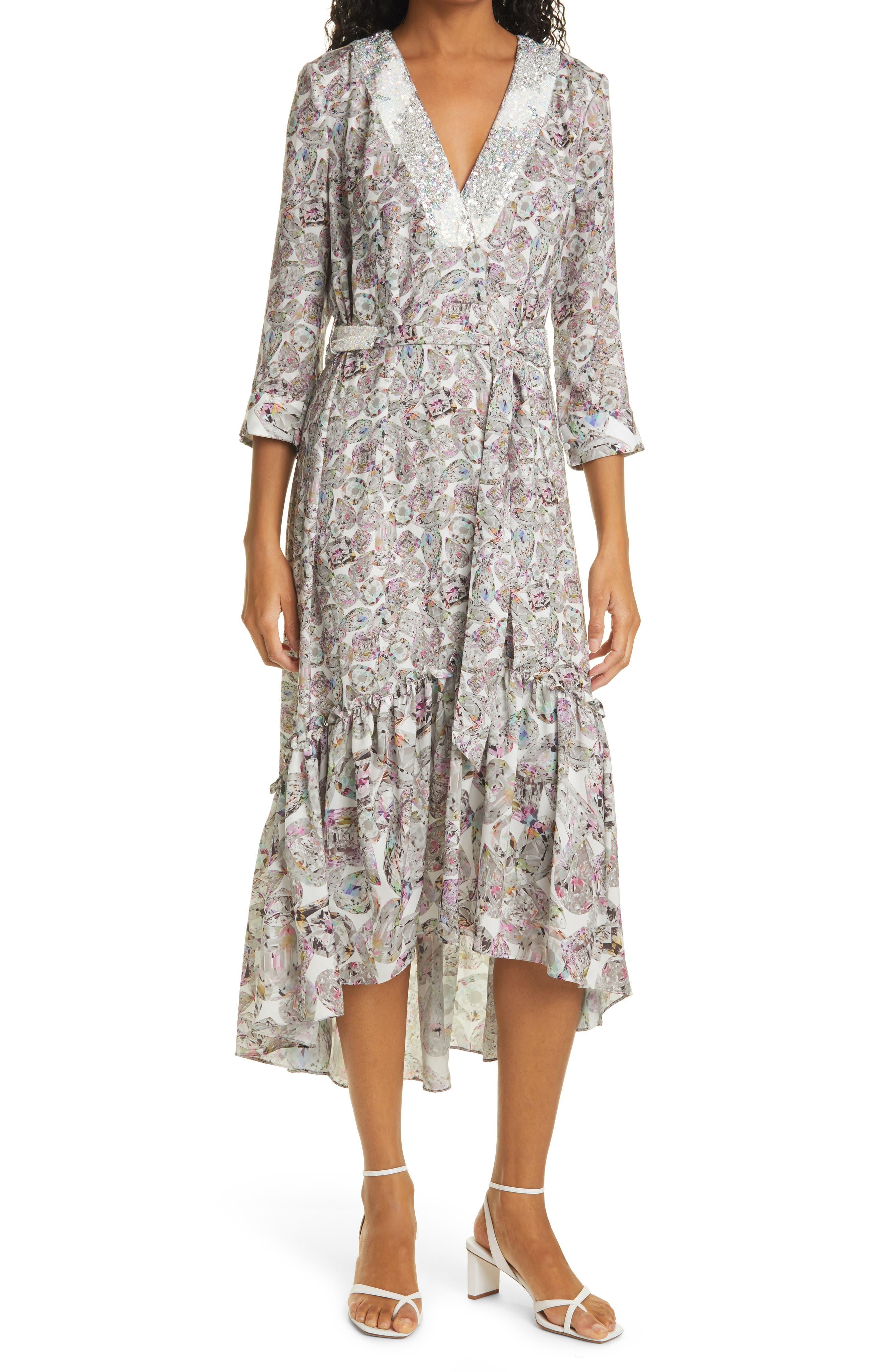 Diamond Life High/low Belted Midi Dress