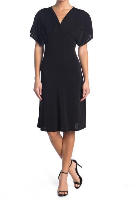 Image of Velvet Torch V-Neck Open Back Dress