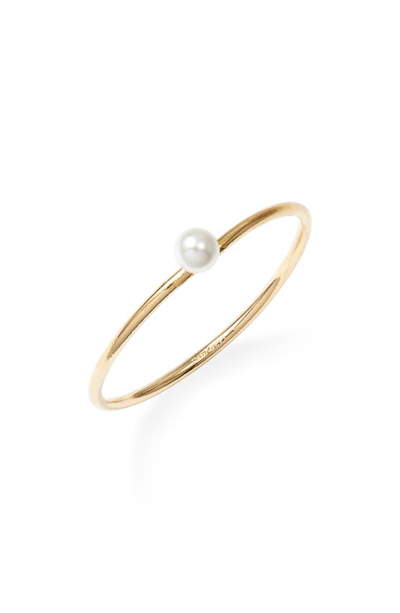 MARIDA Perla Pearl Ring, Main, color, SIZE 6/ PEARL/ GOLD