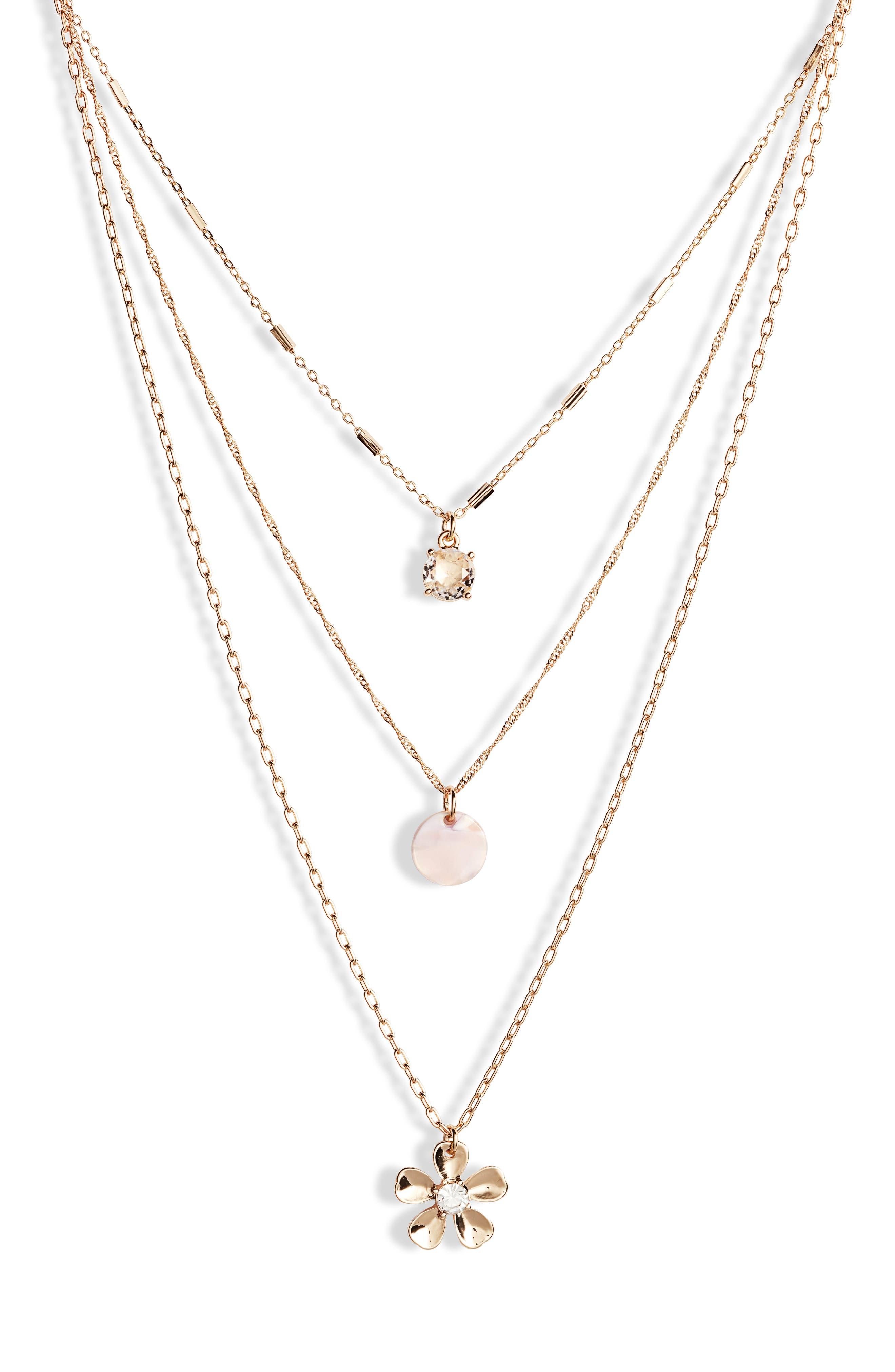,                             Layered Necklace,                             Main thumbnail 1, color,                             100