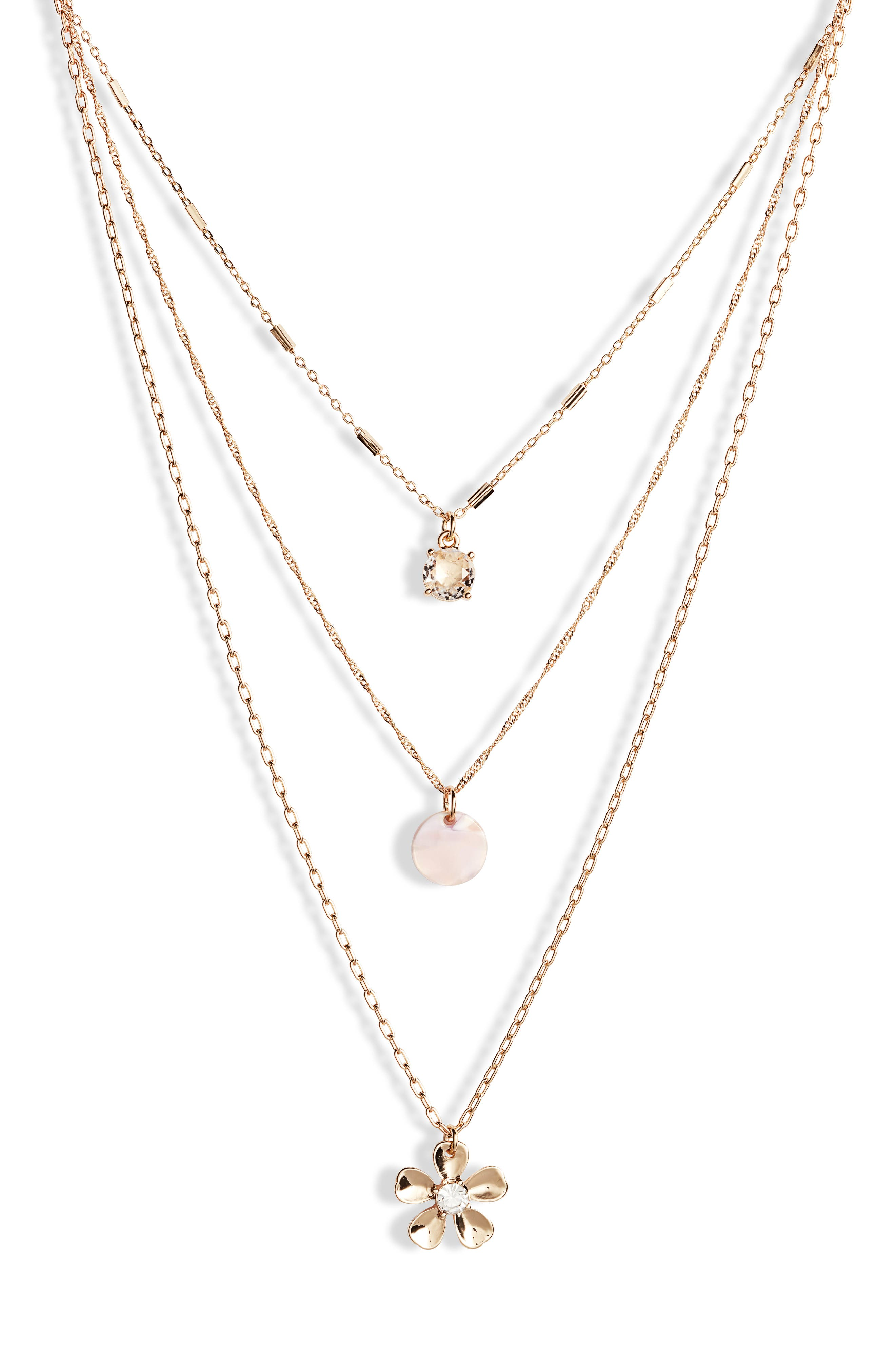 Layered Necklace, Main, color, 100
