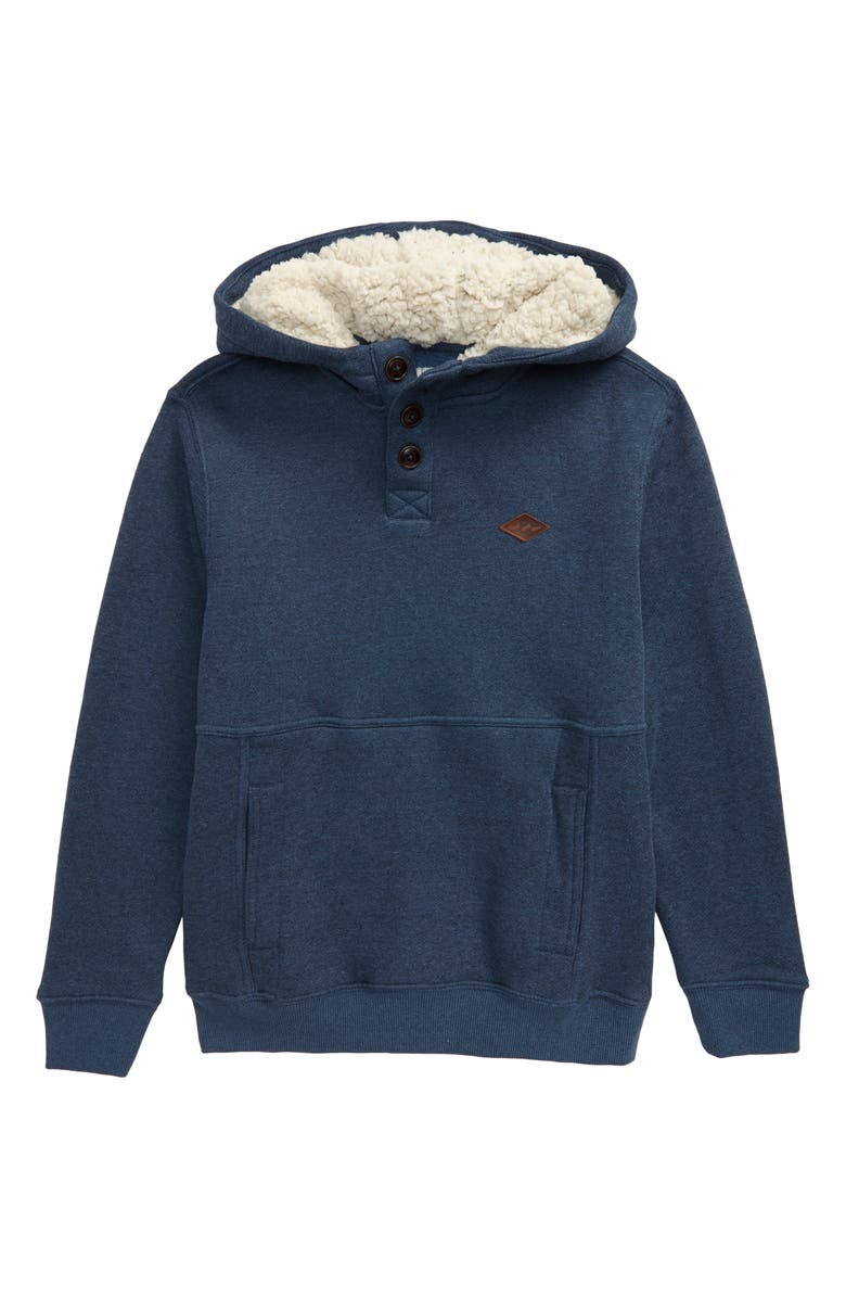 BILLABONG Hudson Fleece Pullover Hoodie, Main, color, NAVY HEATHER