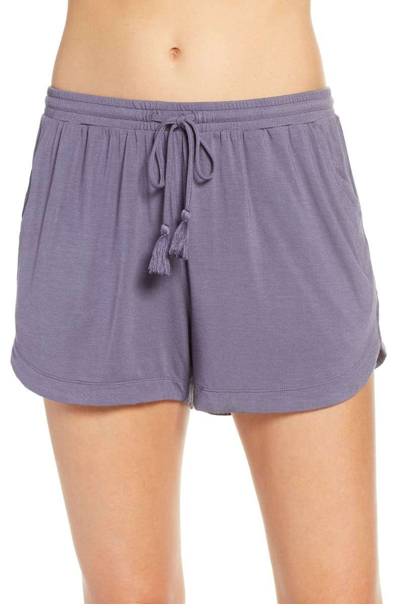 NORDSTROM LINGERIE Moonlight Pajama Shorts, Main, color, GREY STONE