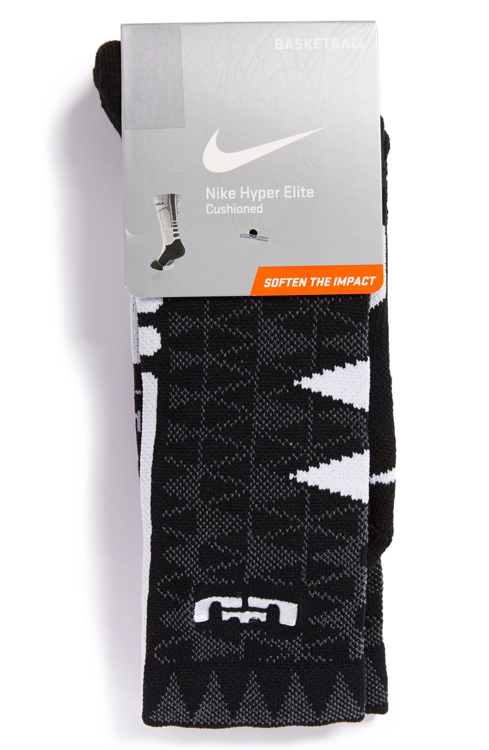 0298ef602 Nike 'LeBron - Hyper Elite' Cushioned Basketball Crew Socks (Big Kid) |  Nordstrom