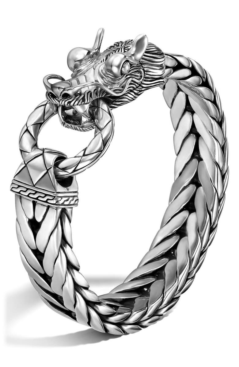 JOHN HARDY Men's Legends Naga Dragon Head Bracelet, Main, color, 040