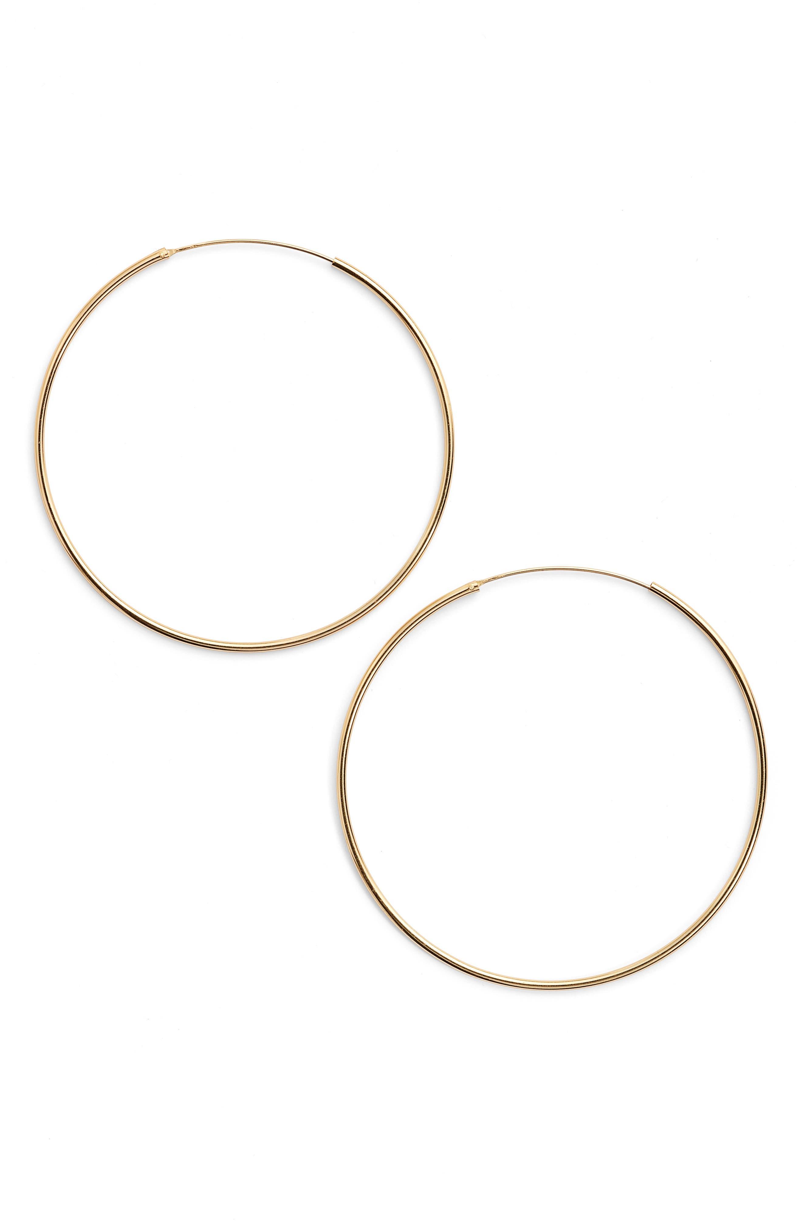 Women's Argento Vivo Extra Large Endless Hoop Earrings