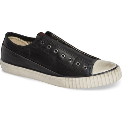 Bootleg By John Varvatos Linen Laceless Sneaker, Black