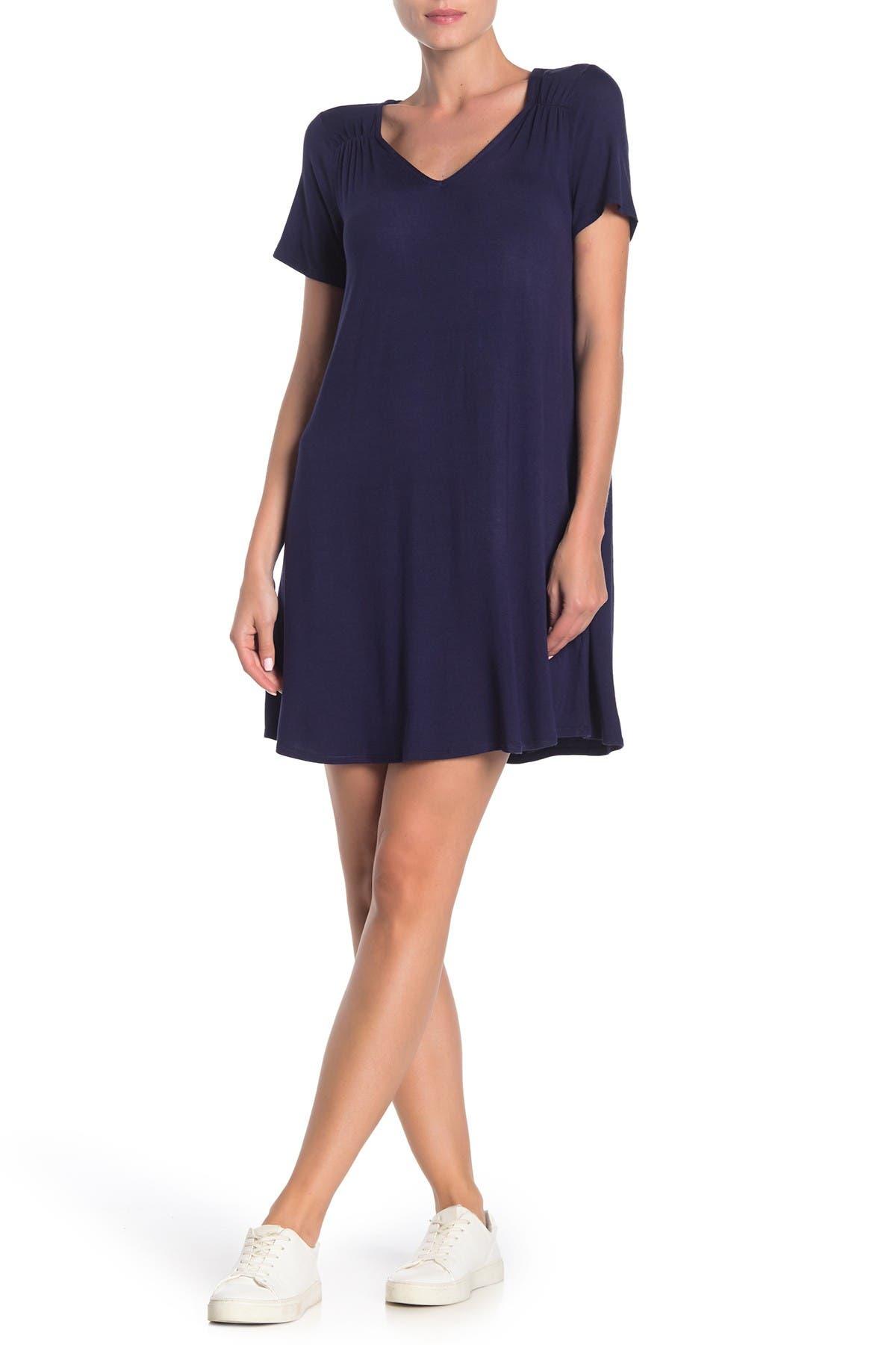 Image of Love, Fire V-Neck Knit T-Shirt Dress