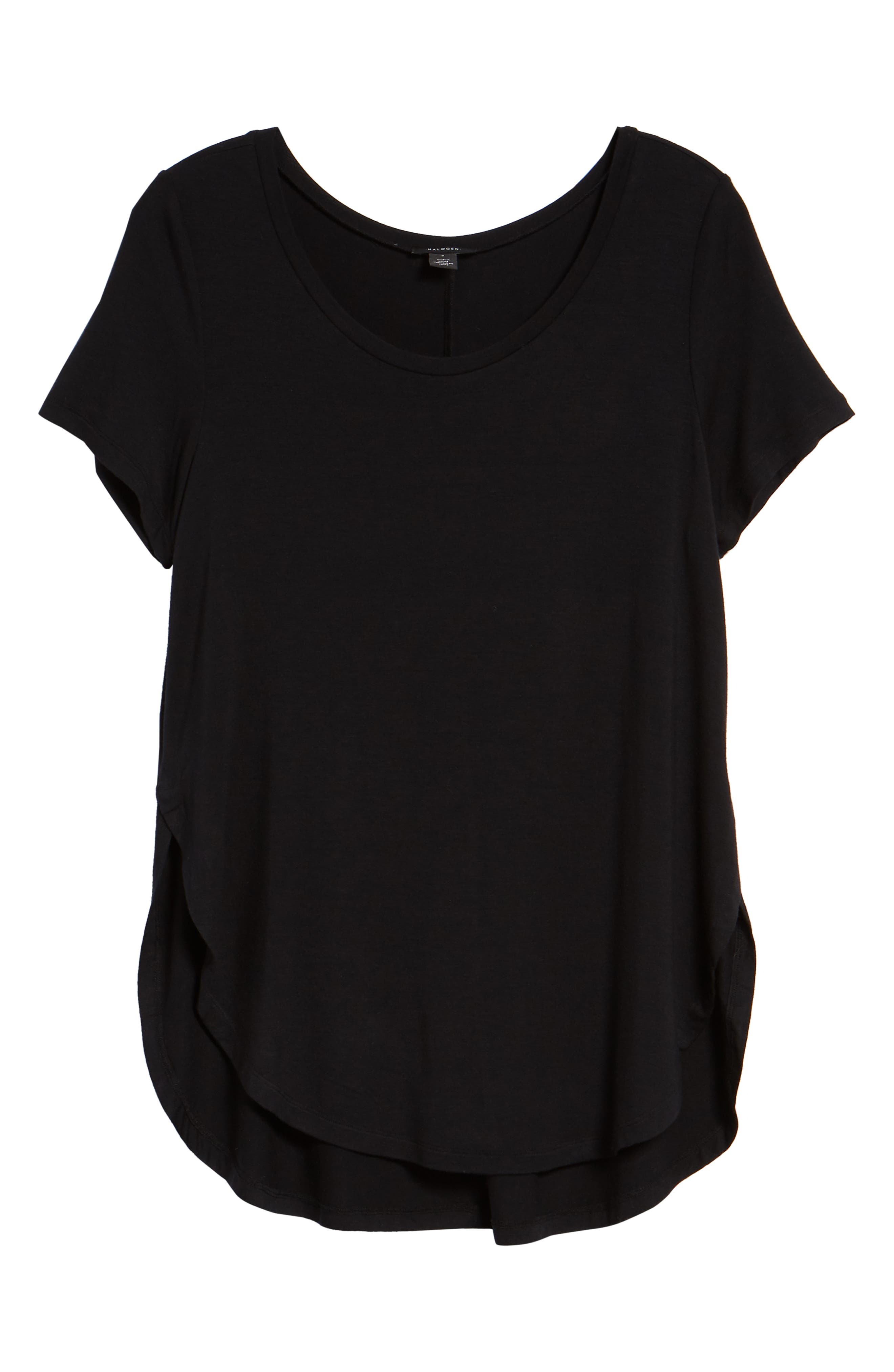 ,                             Short Sleeve Shirttail Tee,                             Alternate thumbnail 6, color,                             BLACK