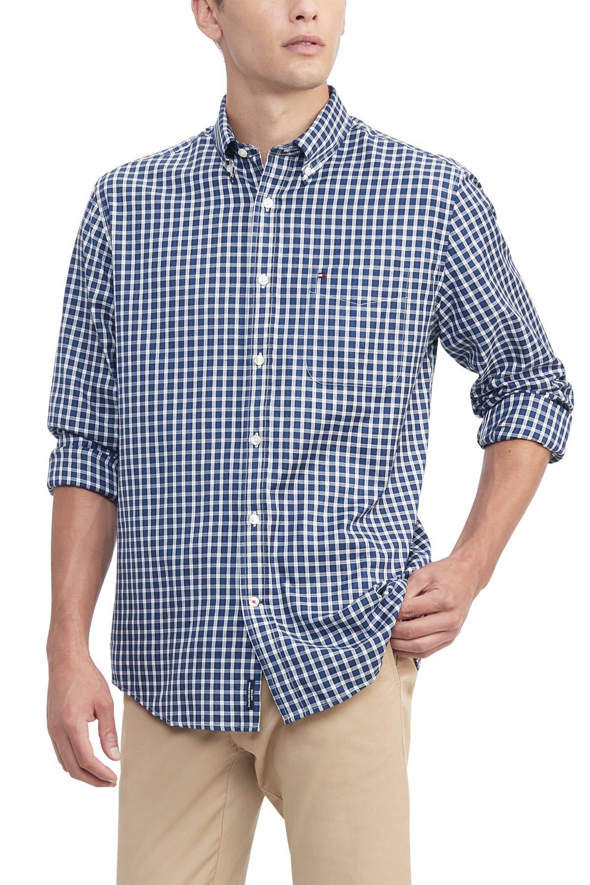 Tommy Hilfiger Men/'s Casual Button-Down Shirt