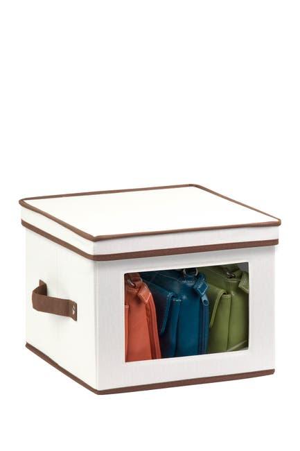 Image of Honey-Can-Do Natural Canvas Medium Window Storage Box