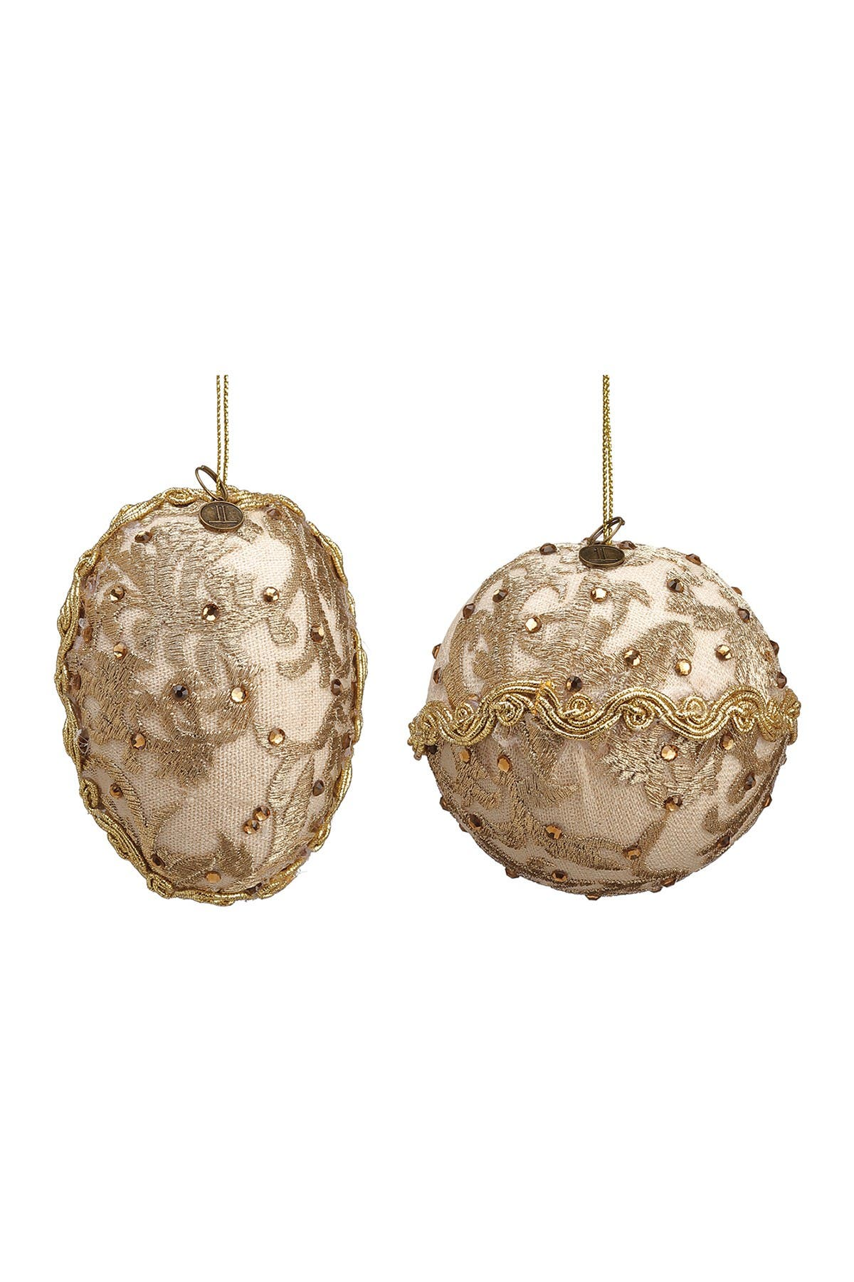 "Image of ALLSTATE 3"" Rhinestone Ball/Finial Ornament 2-Piece Set"