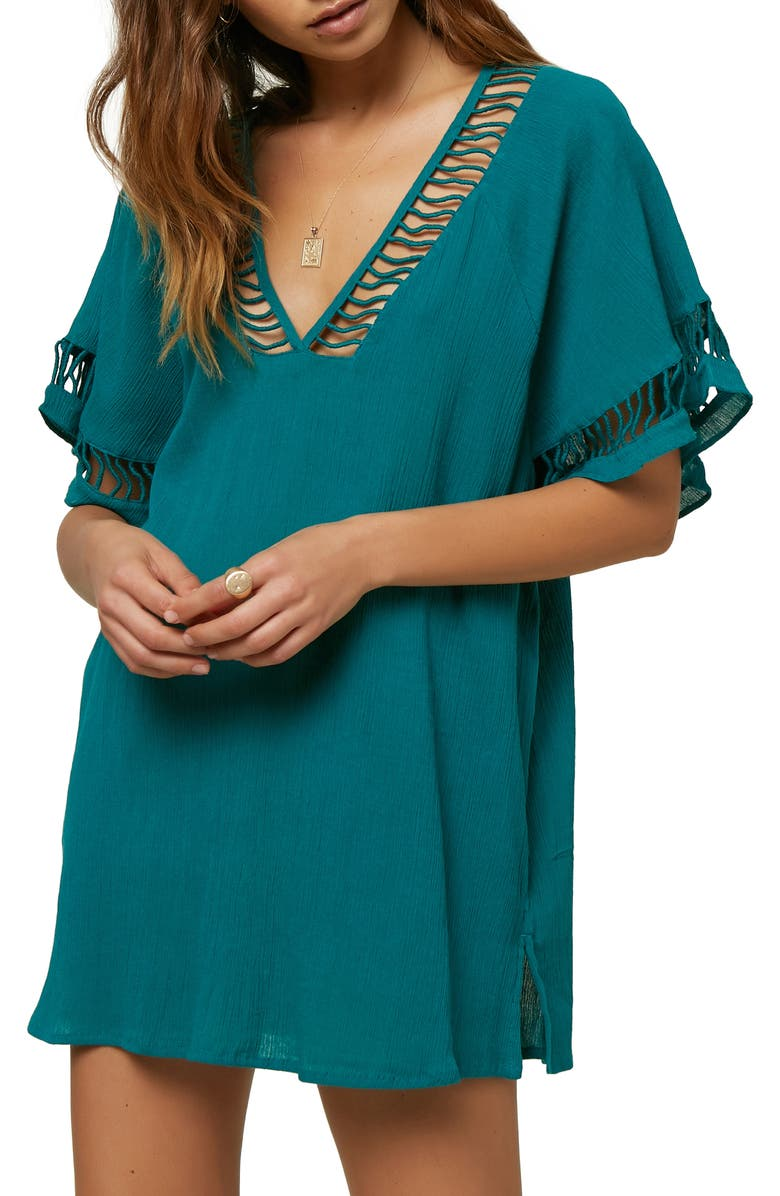 O'NEILL Wallows Cover-Up Tunic, Main, color, TEAL GREEN
