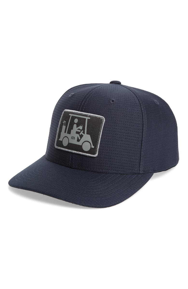 TRAVISMATHEW Coming in Hot Snapback Cap, Main, color, BLUE NIGHTS