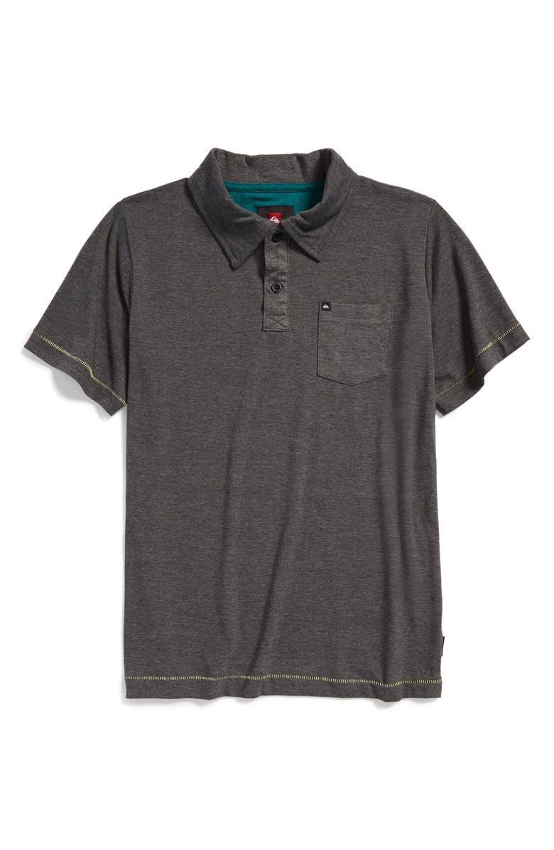 QUIKSILVER 'Core' Cotton Blend Jersey Polo, Main, color, 031