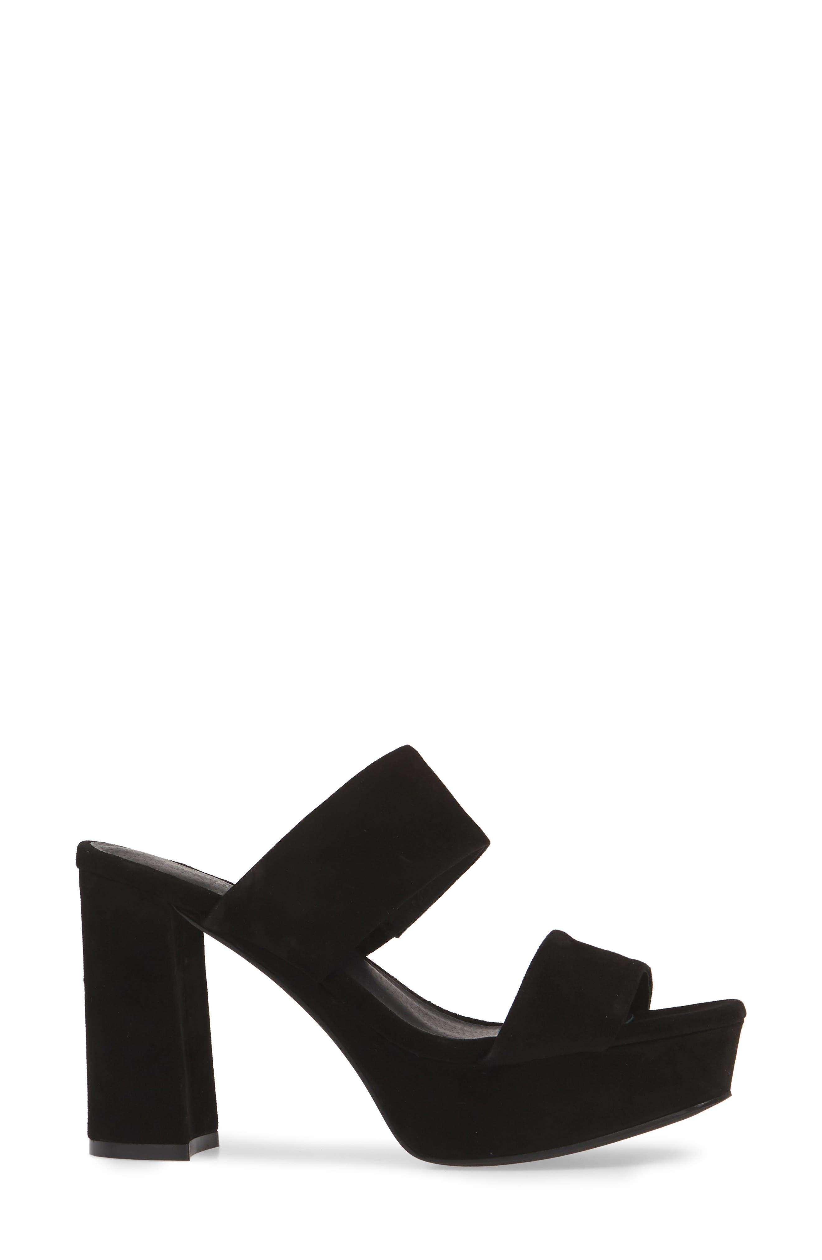,                             Adriana-2 Platform Slide Sandal,                             Alternate thumbnail 4, color,                             BLACK SUEDE