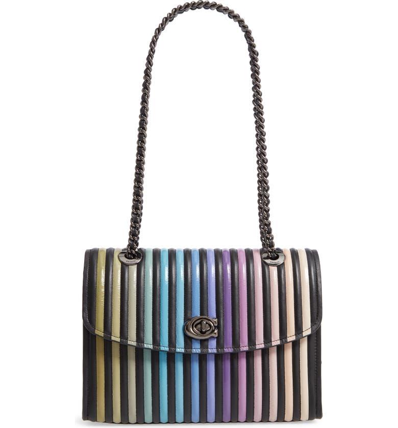 COACH Parker Ombré Quilting Leather Top Handle Shoulder Bag, Main, color, 008