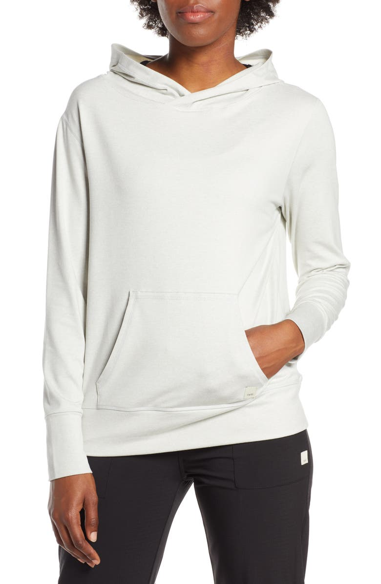 VUORI Halo Performance Hooded Pullover Sweater, Main, color, DOVE GREY HEATHER