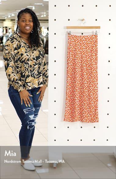 Floral Print Bias Maxi Skirt, sales video thumbnail