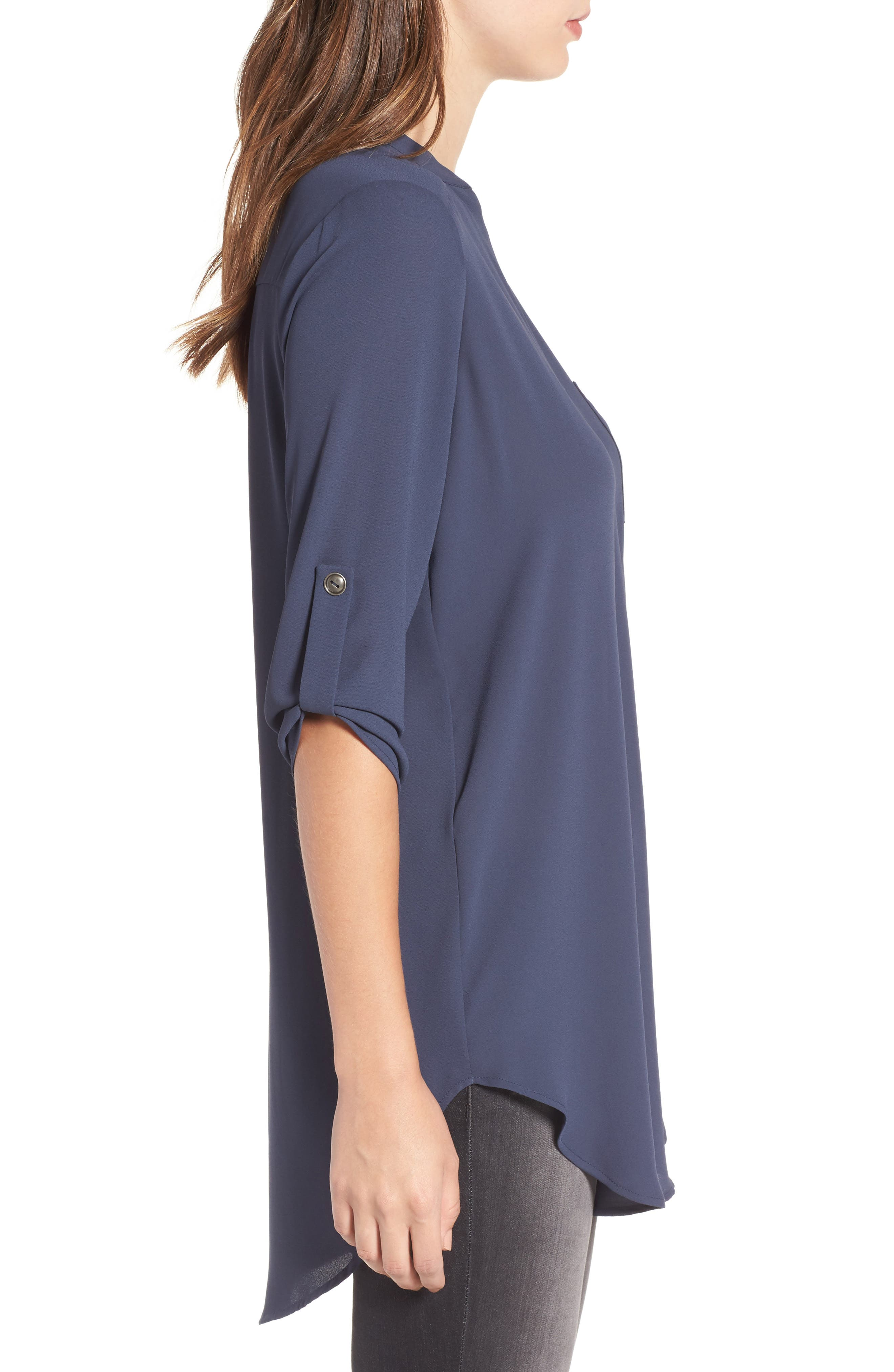 ,                             Perfect Roll Tab Sleeve Tunic,                             Alternate thumbnail 36, color,                             099