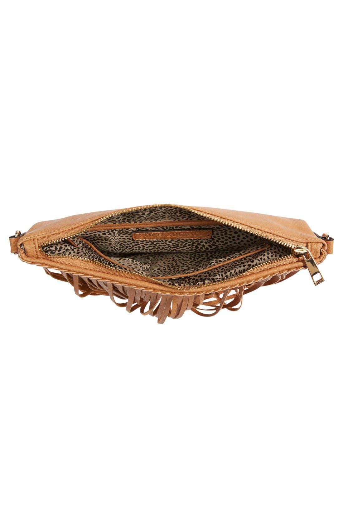 ,                             'Rose' Fringe Faux Leather Convertible Crossbody Bag,                             Alternate thumbnail 15, color,                             232