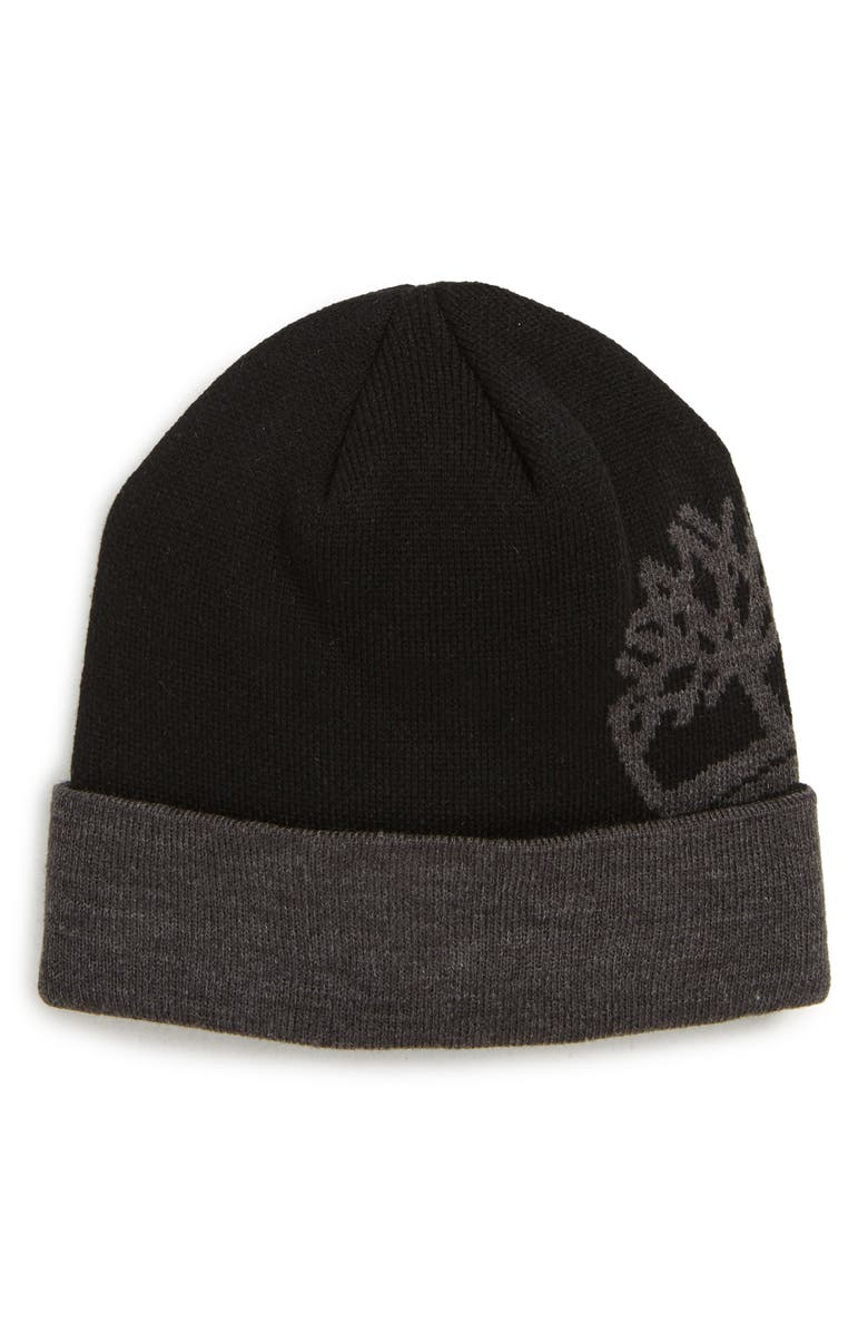 TIMBERLAND Tree Logo Watch Cap Beanie, Main, color, 001