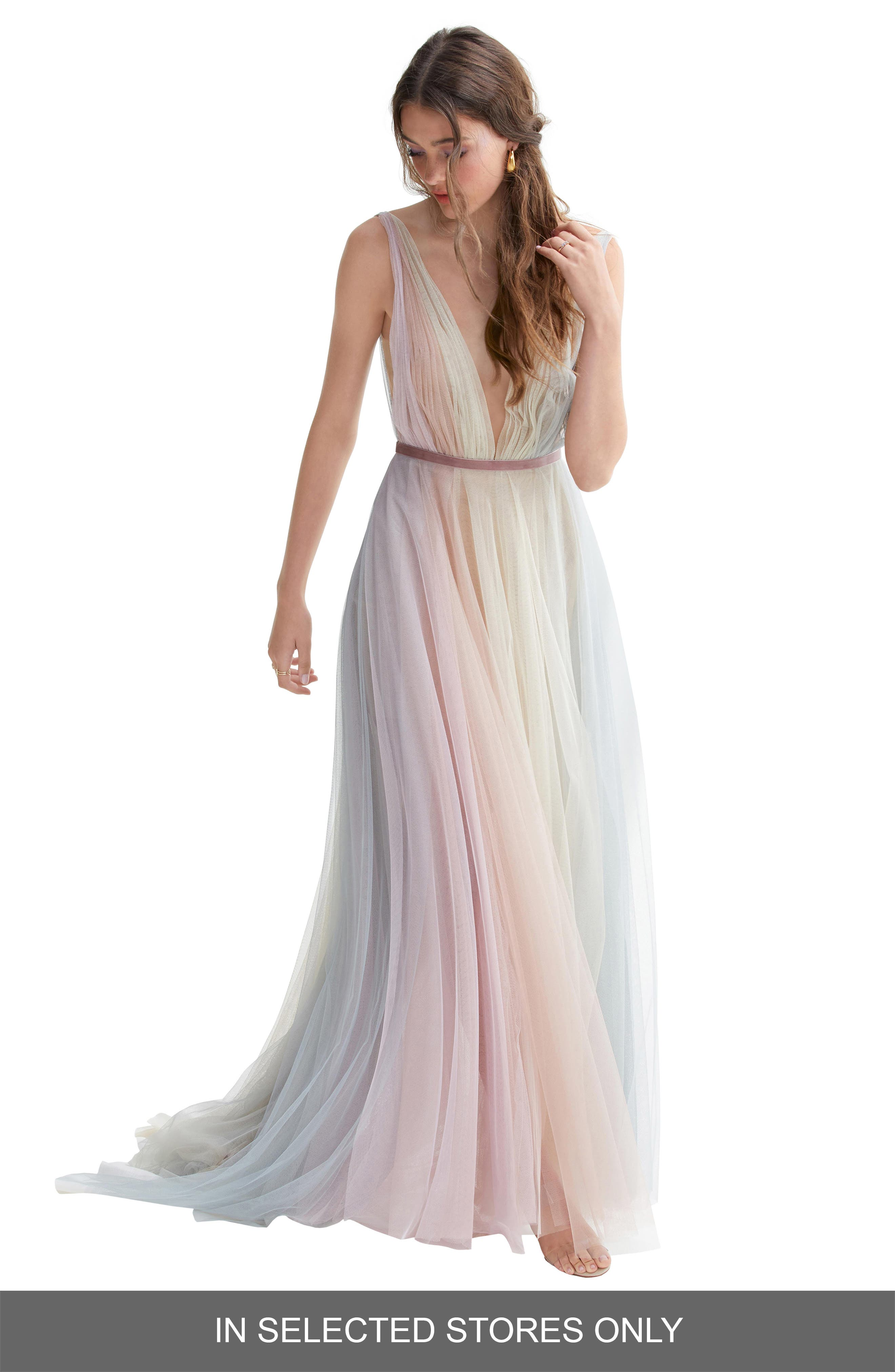 Willowby Hutton Rainbow Tulle A-Line
