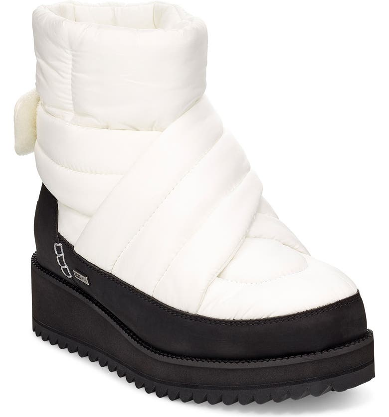 UGG<SUP>®</SUP> Montara Waterproof Insulated Winter Boot, Main, color, WHITE FABRIC