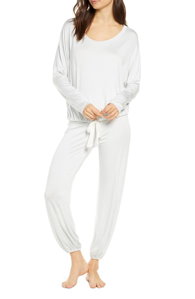 EBERJEY Lisa Slouchy Pajamas, Main, color, STEAM BLUE