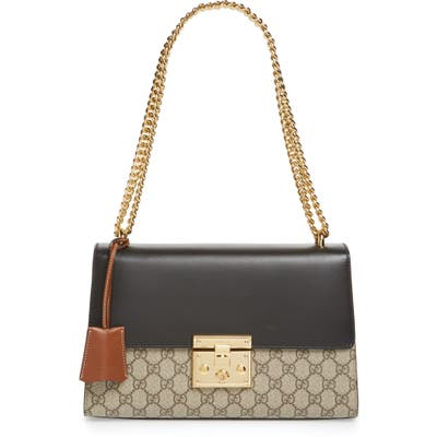 Gucci Medium Padlock Leather Shoulder Bag -