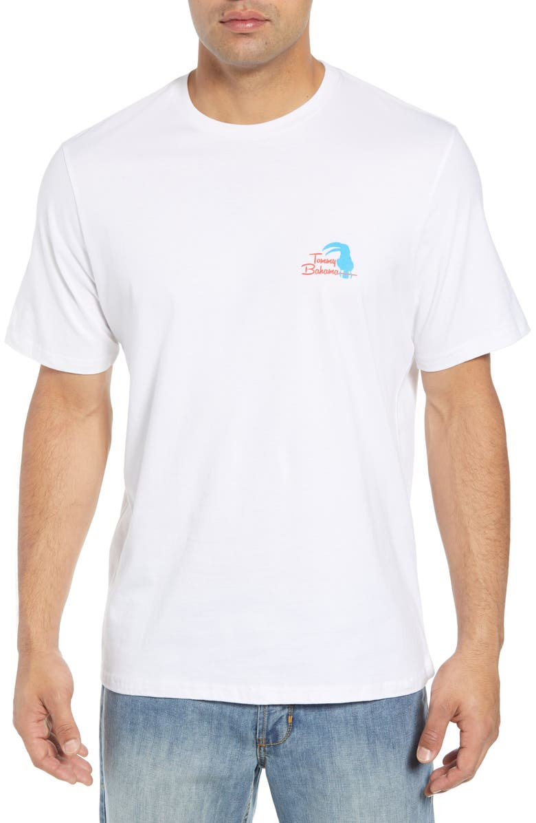 TOMMY BAHAMA Let the Birds Do the Tweeting T-Shirt, Main, color, WHITE