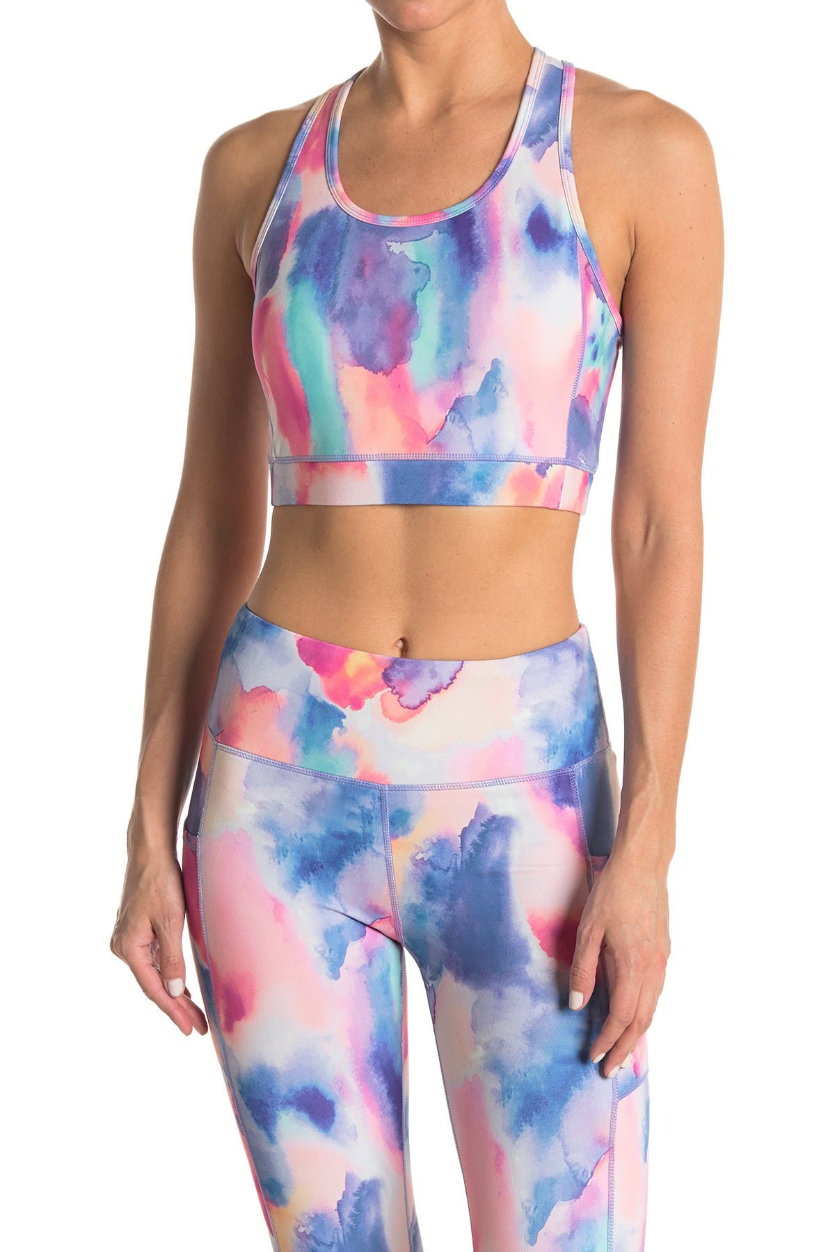 Image of Threads 4 Thought Suki Watercolor Dreams Sports Bra