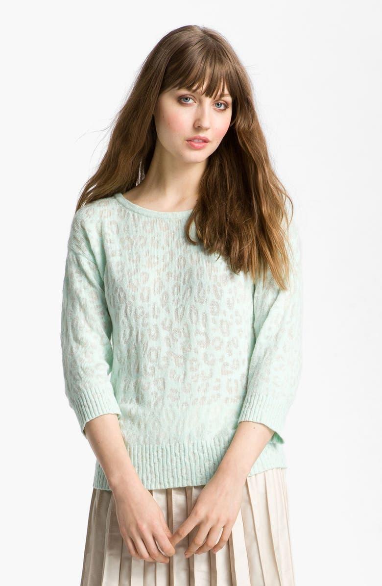 HINGE <sup>®</sup> Burnout Sweater, Main, color, 250