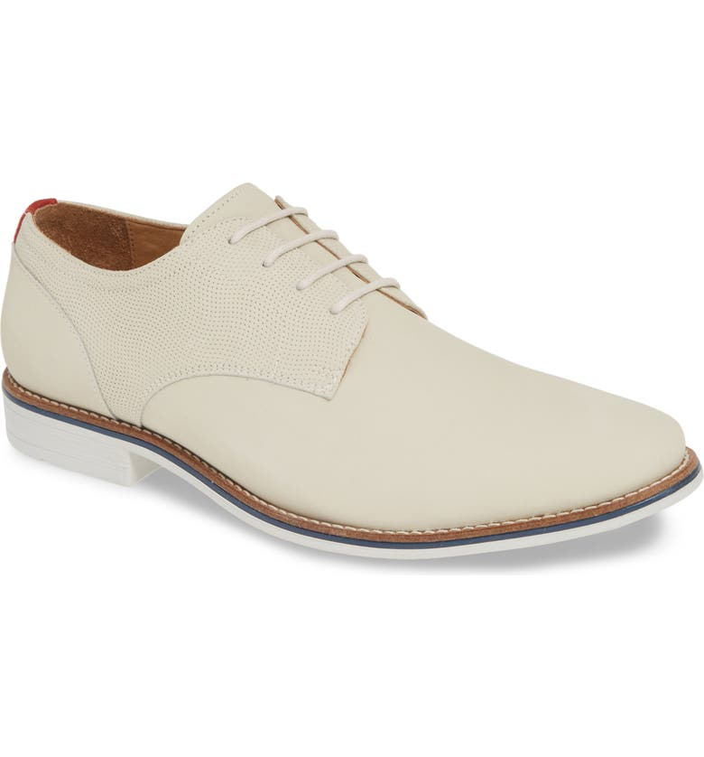 1901 Arcadia Plain Toe Derby, Main, color, WHITE NUBUCK